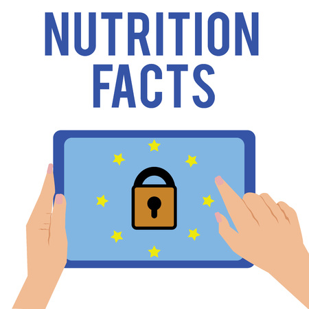 Word writing text Nutrition Facts. Business concept for Detailed information about the nutrients of the food.
