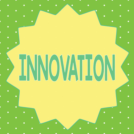 Word writing text Innovation. Business concept for New method idea product Different Creative Not known before.