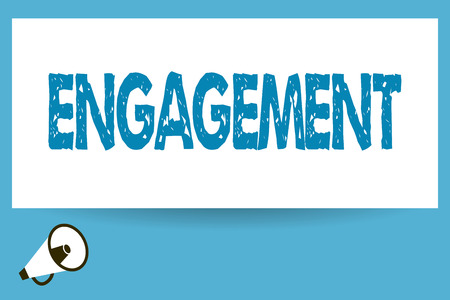Word writing text Engagement. Business concept for Formal agreement to get married arrangement for doing something.