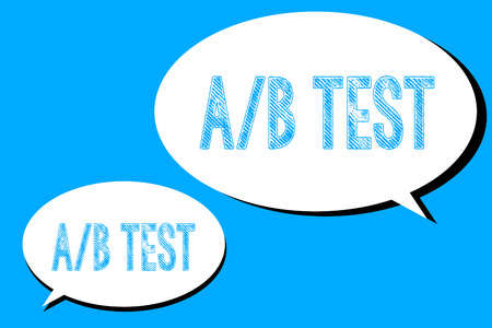 Word writing text A B Test. Business concept for Simple short questionnaire Research Experiment Query Survey.