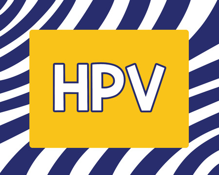 Handwriting text writing Hpv. Concept meaning Group of viruses that affect your skin and the moist membranes.