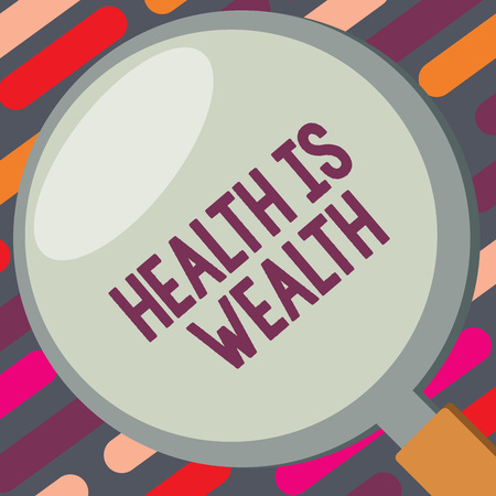 Text sign showing Health Is Wealth. Conceptual photo Being healthy is more important than being wealthy.