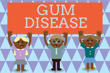 Handwriting text Gum Disease. Concept meaning Inflammation of the soft tissue Gingivitis Periodontitis.