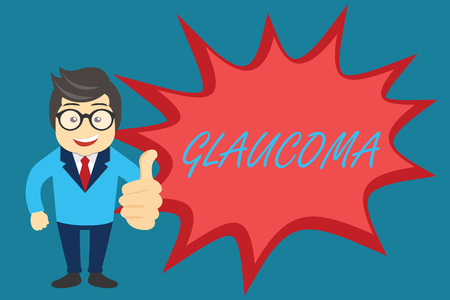 Word writing text Glaucoma. Business concept for Eye diseases which result in damage to the optic nerve Vision loss.