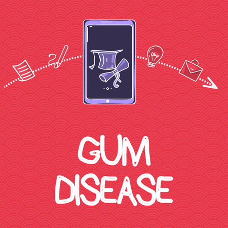 Word writing text Gum Disease. Business concept for Inflammation of the soft tissue Gingivitis Periodontitis.