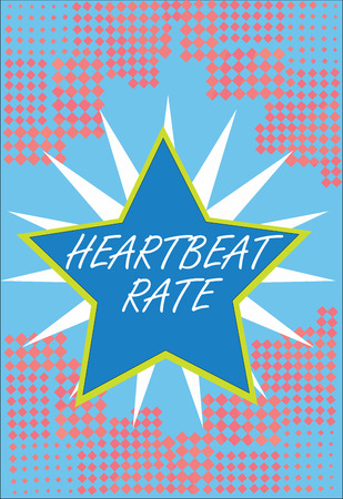Word writing text Heartbeat Rate. Business concept for measured by number of times the heart contracts per minute.