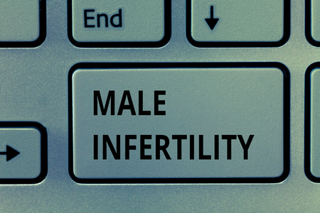 Text sign showing Male Infertility. Conceptual photo Inability of a male to cause pregnancy in a fertile.