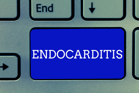 Handwriting text Endocarditis. Concept meaning Serious infection and swelling of the inner layer of the heart. Stock Photo