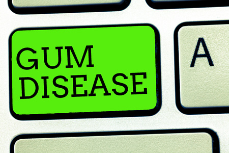 Writing note showing Gum Disease. Business photo showcasing Inflammation of the soft tissue Gingivitis Periodontitis.