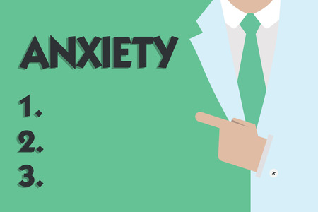 Text sign showing Anxiety. Conceptual photo Excessive uneasiness and apprehension Panic attack syndrome.