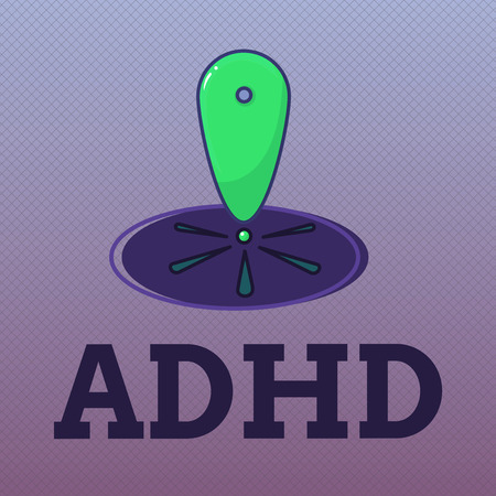 Word writing text Adhd. Business concept for Mental health disorder of children Hyperactive Trouble paying attention. Stock Photo