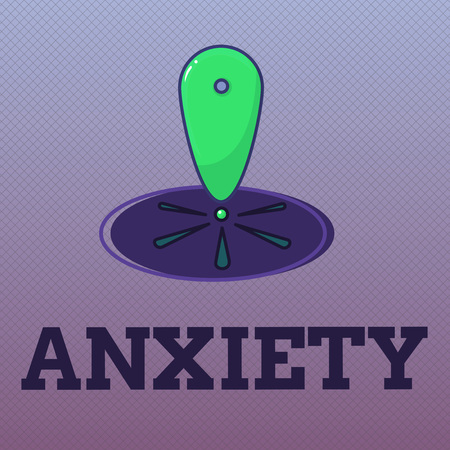 Word writing text Anxiety. Business concept for Excessive uneasiness and apprehension Panic attack syndrome. Stock Photo