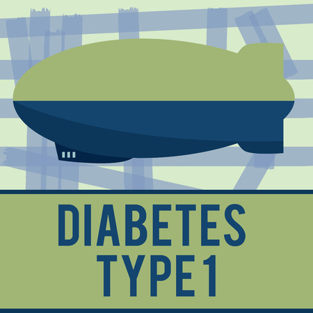 Writing note showing Diabetes Type 1. Business photo showcasing condition in which the pancreas produce little or no insulin.