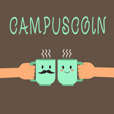 Word writing text Campuscoin. Business concept for Decentralized cryptocurrency to be used by college students. Foto de archivo