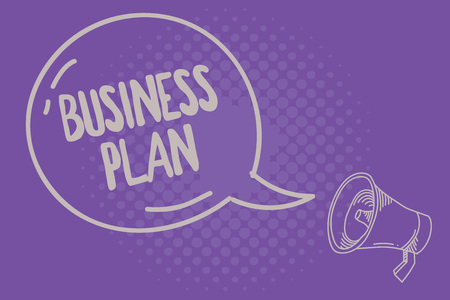 Text sign showing Business Plan. Conceptual photo Structural Strategy Goals and Objectives Financial Projections.