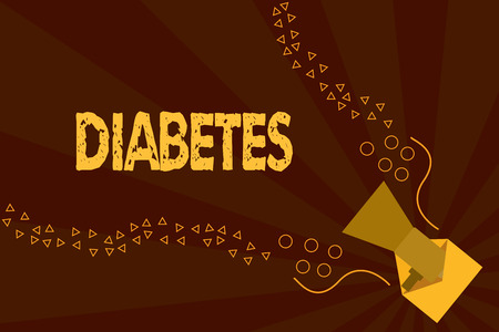 Text sign showing Diabetes. Conceptual photo disease in which bodys ability to hormone insulin is impaired. Banque d'images