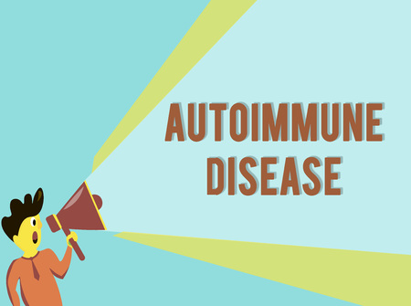 Word writing text Autoimmune Disease. Business concept for Unusual antibodies that target their own body tissues. Stock Photo
