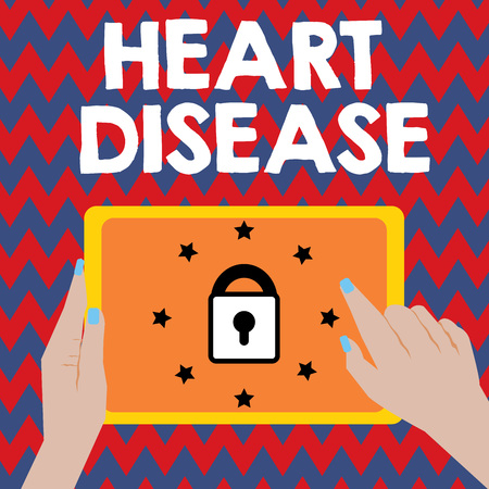 Writing note showing Heart Disease. Business photo showcasing Heart disorder Conditions that involve blocked blood vessels.