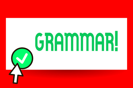 Conceptual hand writing showing Grammar. Business photo text whole system and structure of language or of languages in general. Stok Fotoğraf