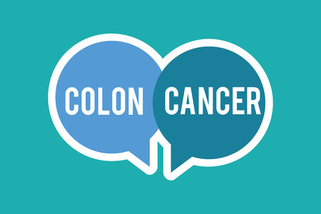 Conceptual hand writing showing Colon Cancer. Business photo text Cancer that forms in the tissues of the large intestine. Standard-Bild