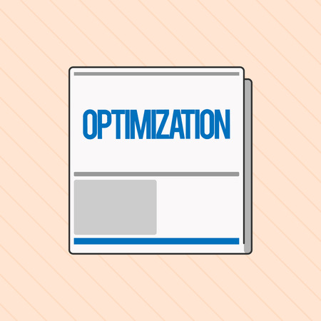 Word writing text Optimization. Business concept for Making the best or most effective use of a situation resource.