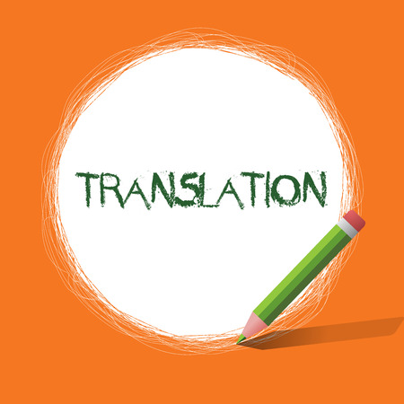 Conceptual hand writing showing Translation. Business photo showcasing Process of translating words text from one language into another. Imagens