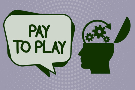 Handwriting text writing Pay To Play. Concept meaning Give money for playing a game Gambling Sports Entertainment. 免版税图像