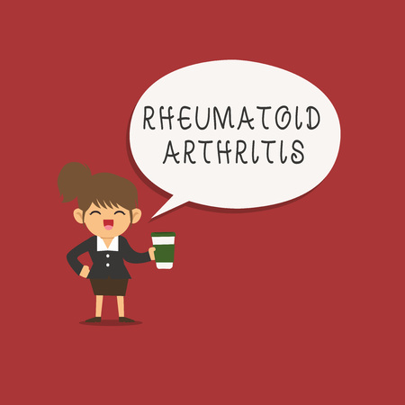 Word writing text Rheumatoid Arthritis. Business concept for autoimmune disease that can cause joint pain and damage. 版權商用圖片