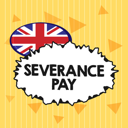 Handwriting text Severance Pay. Concept meaning Amount paid to an employee on the termination of a contract. 写真素材
