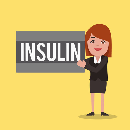 Word writing text Insulin. Business concept for Protein pancreatic hormone Regulates the glucose in the blood.
