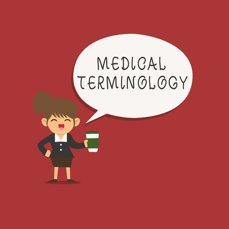 Word writing text Medical Terminology. Business concept for language used to precisely describe the huanalysis body.