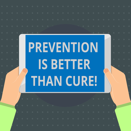 Text sign showing Prevention Is Better Than Cure. Conceptual photo Disease is preventable if identified earlier. 免版税图像