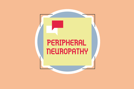 Writing note showing Peripheral Neuropathy. Business photo showcasing Condition wherein peripheral nervous system is damaged.