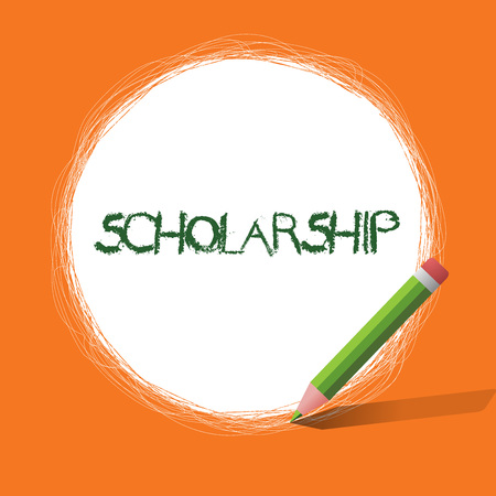 Conceptual hand writing showing Scholarship. Business photo showcasing Grant or Payment made to support education Academic Study.