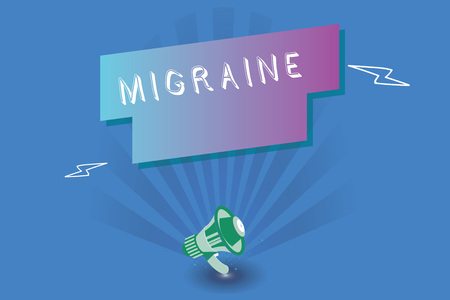 Handwriting text writing Migraine. Concept meaning recurrent throbbing headache that affects one side of head. Reklamní fotografie