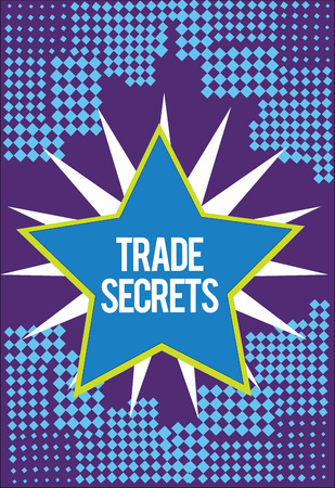 Text sign showing Trade Secrets. Conceptual photo Technique used by a company in analysisufacturing its products. Banco de Imagens