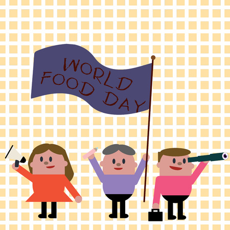 Conceptual hand writing showing World Food Day. Business photo showcasing World day of action dedicated to tackling global hunger.