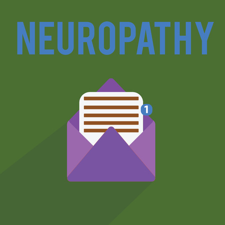 Conceptual hand writing showing Neuropathy. Business photo text Malfunctions of the nerves Loss of sense in the hands and feet.