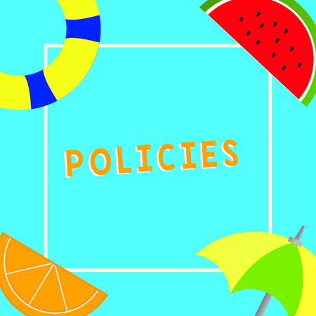 Conceptual hand writing showing Policies. Business photo text course or principle of action adopted or proposed by organization. Stock Photo
