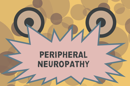 Text sign showing Peripheral Neuropathy. Conceptual photo Condition wherein peripheral nervous system is damaged.