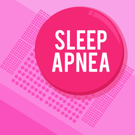 Word writing text Sleep Apnea. Business concept for The temporary stoppage of breathing during sleep Snoring.
