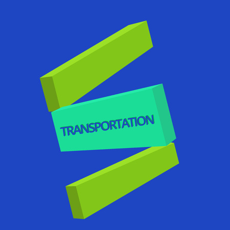 Text sign showing Transportation. Conceptual photo Means of transporting showing and goods System of vehicles. Archivio Fotografico