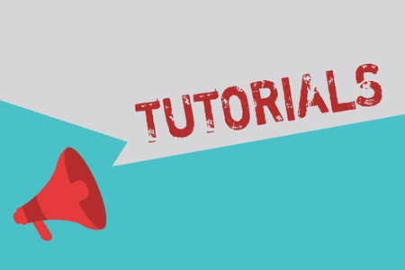 Word writing text Tutorials. Business concept for Period of study with a tutor Explanation Mentoring Training.