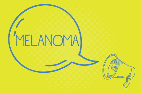 Word writing text Melanoma. Business concept for A malignant tumor associated with skin cancer Benign moles. Stock Photo