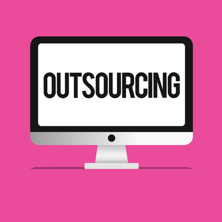 Conceptual hand writing showing Outsourcing. Business photo text Obtain goods or service by contract from an outside supplier.