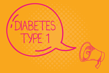 Conceptual hand writing showing Diabetes Type 1. Business photo text condition in which the pancreas produce little or no insulin. Stock Photo