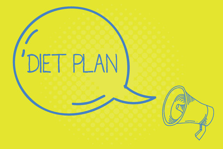 Word writing text Diet Plan. Business concept for Use of specific intake of nutrition for health analysisagement reasons.