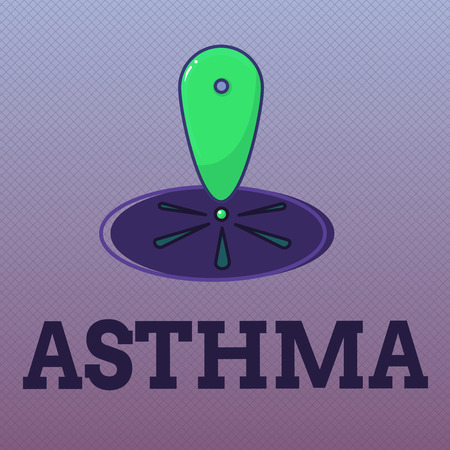 Word writing text Asthma. Business concept for Respiratory condition marked by spasms in the bronchi of the lungs.
