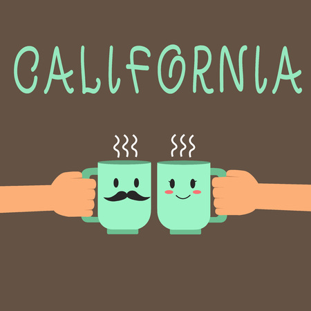 Word writing text California. Business concept for State on west coast United States of America Beaches Hollywood.