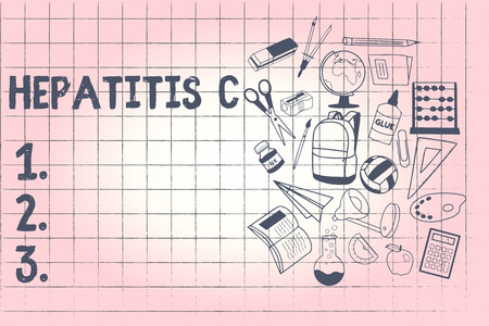 Conceptual hand writing showing Hepatitis C. Business photo showcasing Inflammation of the liver due to a viral infection Liver disease. Stock Photo